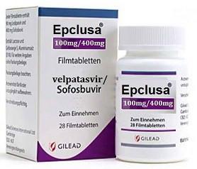 Эпклуса (Epclusa) - Софосбувир (Sofosbuvir) - Велпатасвир (Velpatasvir)